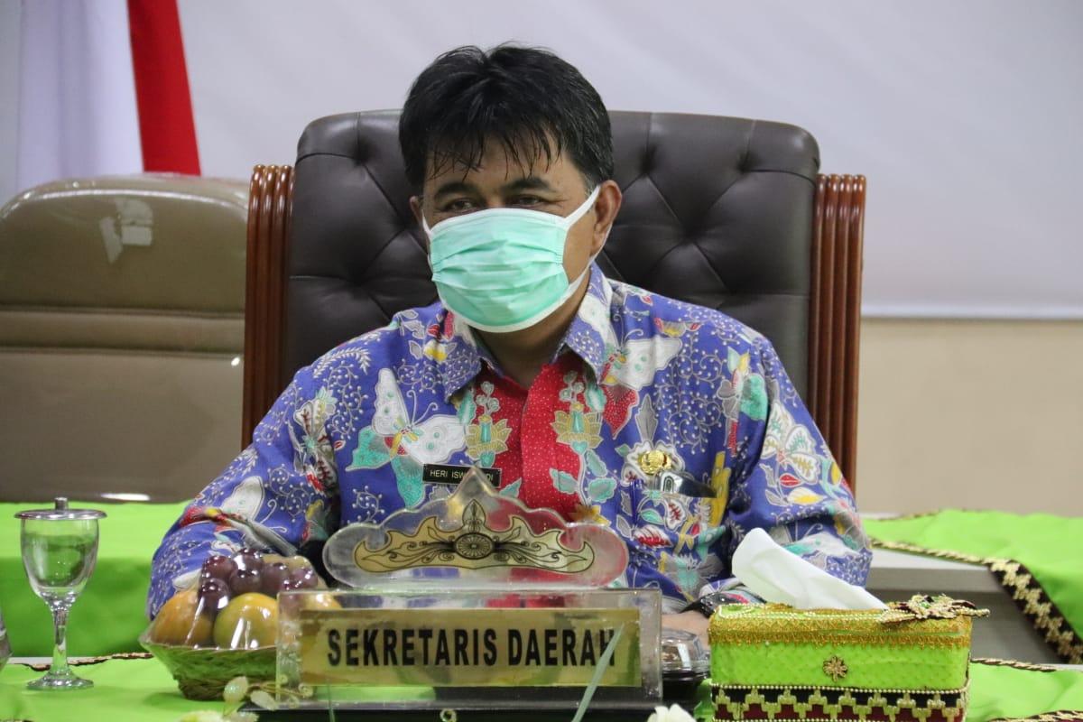 SEKDA PRINGSEWU IKUTI RAKOR PENGURUS FORSESDASI SE-INDONESIA MELALUI VIDEO CONFERENCE