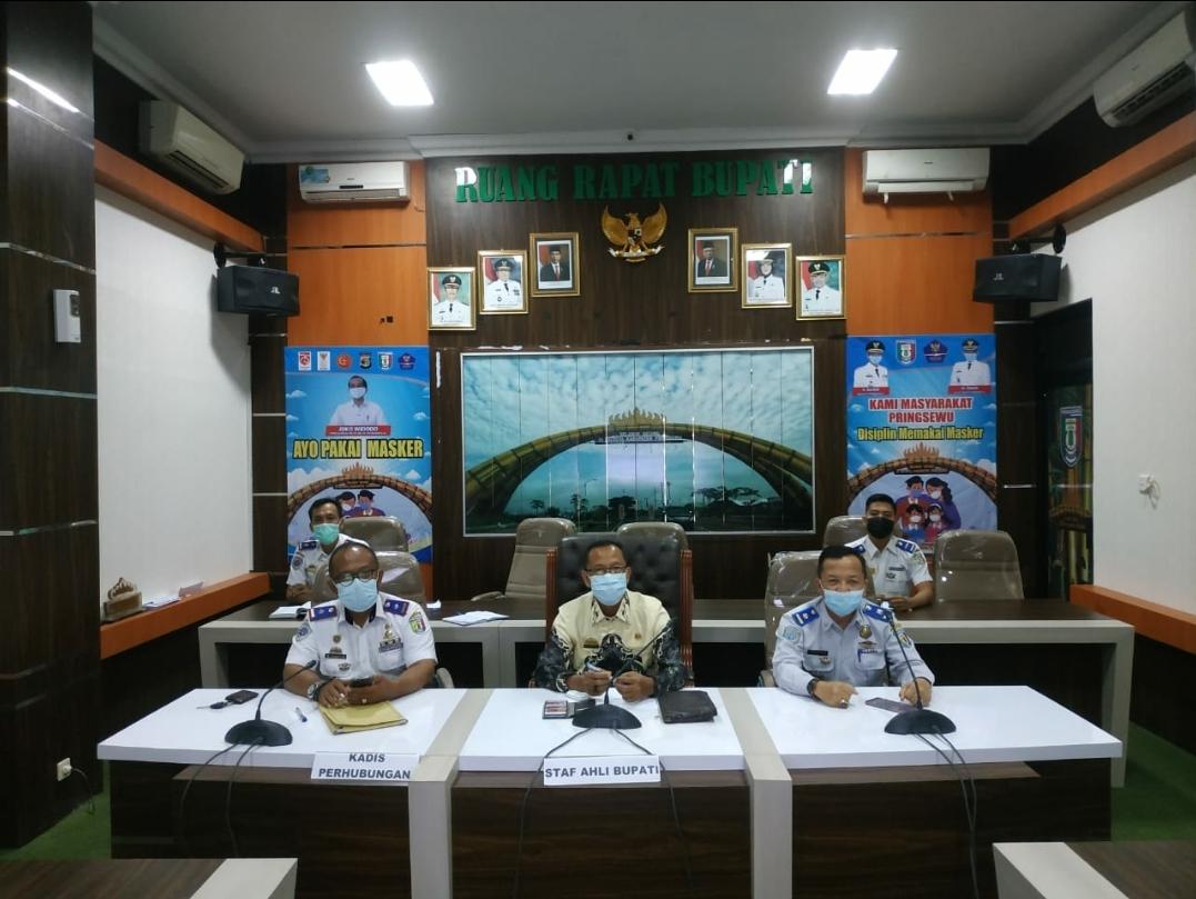Rakor Pengendalian Transportasi Pada Masa Idul Fitri 1442 H Di Provinsi Lampung