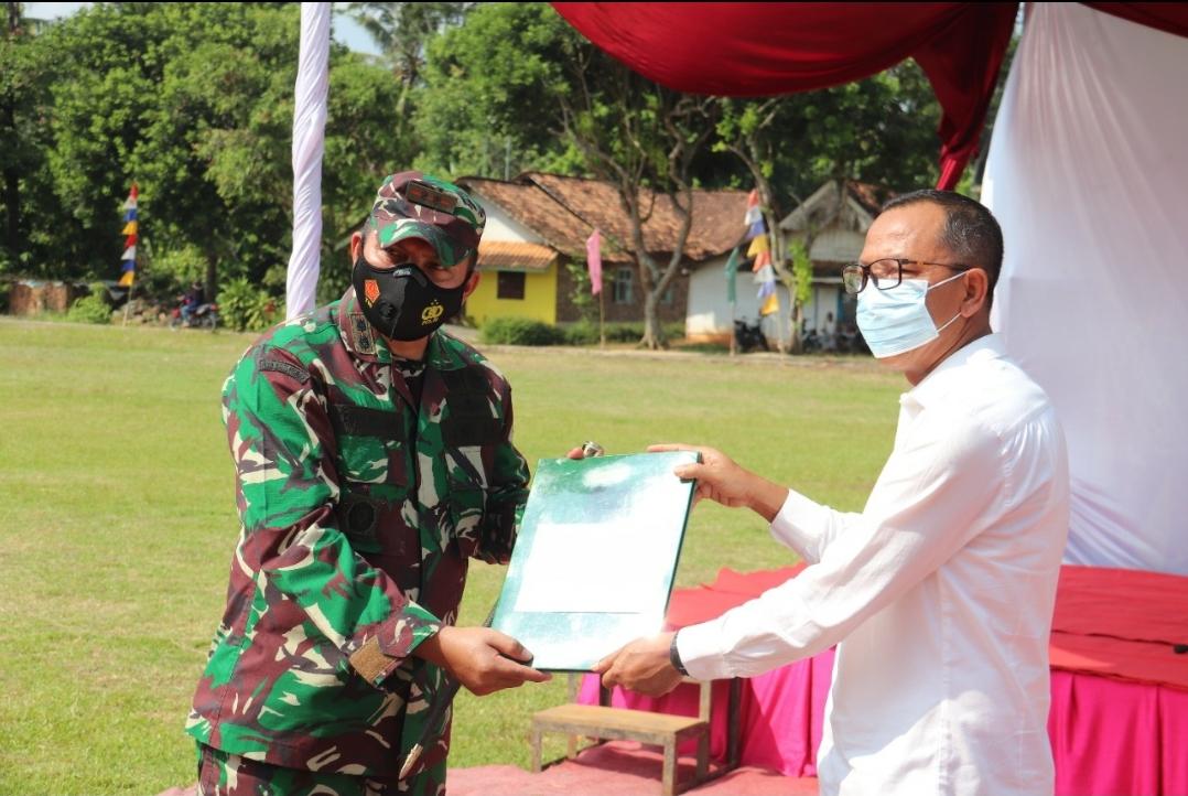 Pembukaan Karya Bakti TNI Kodim 0424 Tanggamus di Kabupaten Pringsewu Tahun 2021