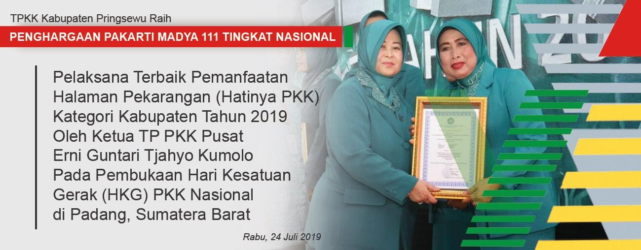 Kabupaten Pringsewu Raih Penghargaan Nasional Pakarti Madya III